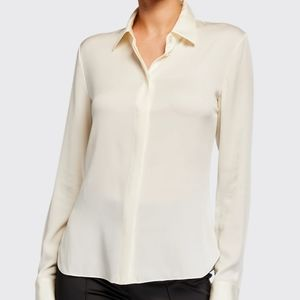 Theory Silk Classic Fitted Shirt